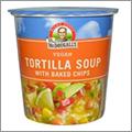 ビーガン・グルテンフリー・化学調味料不使用のトルティーヤスープ・チップス入りが便利でおいしい