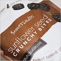 ひまわりのタネを使ったヘルシースナック・チョコ味【Somersaults】