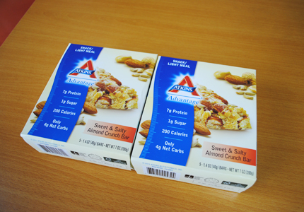 Atkins, Advantage, Dark Chocolate Almond Coconut Crunch Bar, 5 Bars, 1.4 oz (40 g) Each
